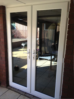 double glazed french doors with UPVC